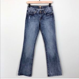 7 For All Mankind   Distressed Bootcut Jeans 27